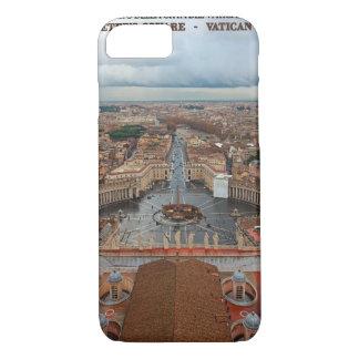 バチカン市国- St Petersの正方形の眺め iPhone 8/7ケース