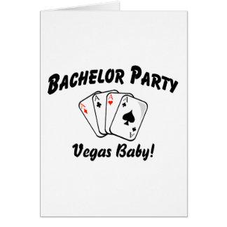 バチュラーパーティのベガスのベビー カード