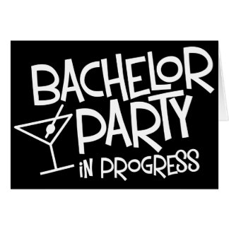 バチュラーパーティの進行中の招待状 カード