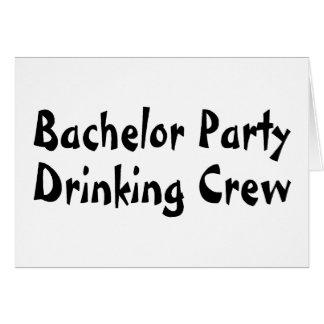 バチュラーパーティの飲む乗組員 カード