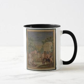 バッカスおよびAriadne (キャンバスの油) 2 マグカップ