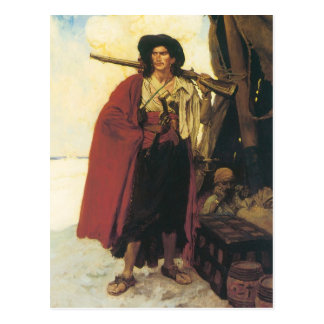 バッカニアヴィンテージの海賊は絵のような仲間でした ポストカード