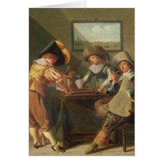 バックギャモンプレーヤー、17世紀 カード