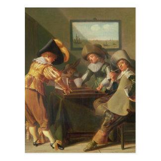 バックギャモンプレーヤー、17世紀 ポストカード