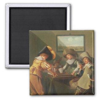 バックギャモンプレーヤー、17世紀 マグネット