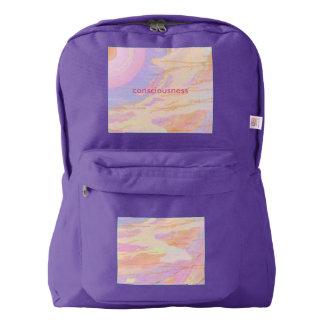 バックパックの紫色の意識のピンクのオレンジ AMERICAN APPAREL™バックパック