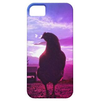 バックライトのおもしろいな鶏 iPhone SE/5/5s ケース