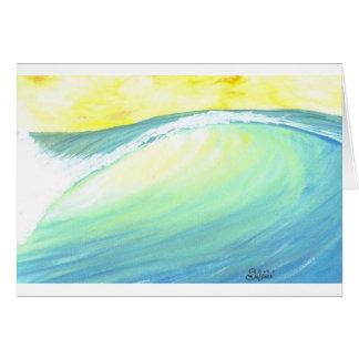 バックリットの波 グリーティングカード