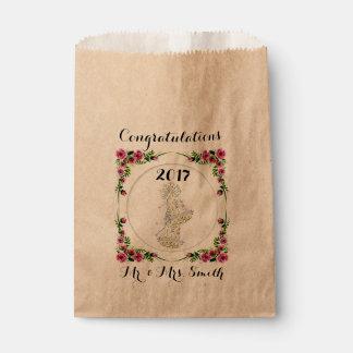 バッグのクラフトの好意を結婚する花 フェイバーバッグ