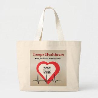 バッグのテンプレートのタンパのヘルスケア ラージトートバッグ
