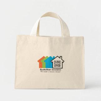 バッグのテンプレートの家の不動産仲介業者 ミニトートバッグ