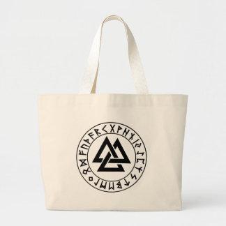 バッグの三三角形のRuneの盾 ラージトートバッグ