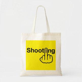 バッグの射撃、発砲フリップ トートバッグ