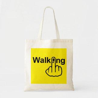 バッグの歩くフリップ トートバッグ