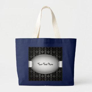 バッグの蝶抽象芸術の生地 ラージトートバッグ