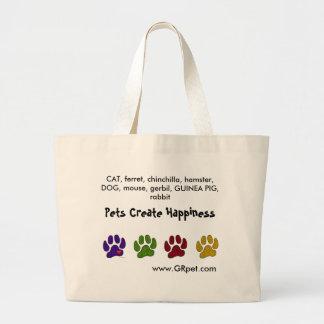 バッグを運んでいるペットは幸福を作成します ラージトートバッグ
