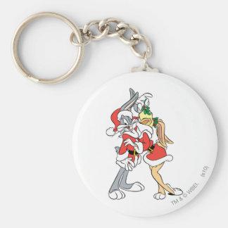 バッグス・バニーの™およびLolaのヤドリギのキス キーホルダー