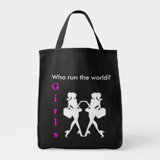 バッグ世界を走るか。 女の子 トートバッグ