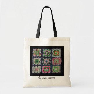 バッグ-おばあさんの正方形のアフガニスタン人 トートバッグ