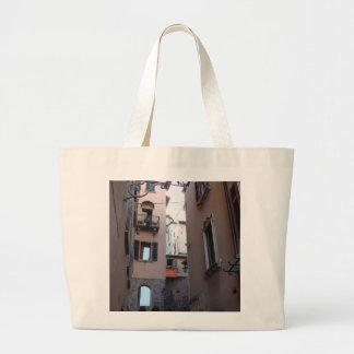 バッグ、イタリア場面 ラージトートバッグ