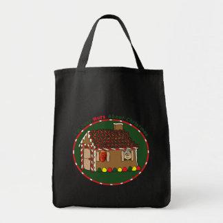 バッグ-クリスマスのお菓子の家のためのナット トートバッグ