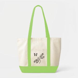 バッグ: トンボおよび蝶幼児袋 トートバッグ