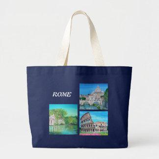 バッグ-ローマ、イタリア ラージトートバッグ