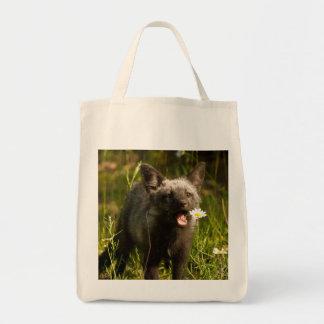 バッグ、孤の戦闘状況表示板、孤の買物客、野性生物のギフトを孤色に変色させて下さい トートバッグ
