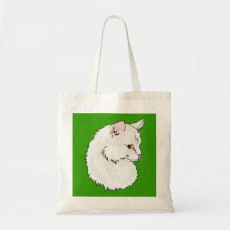 バッグ-白い子ネコのグラフィック トートバッグ