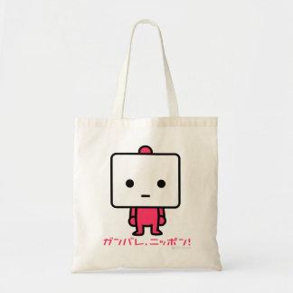 バッグ-豆腐-ピンク トートバッグ
