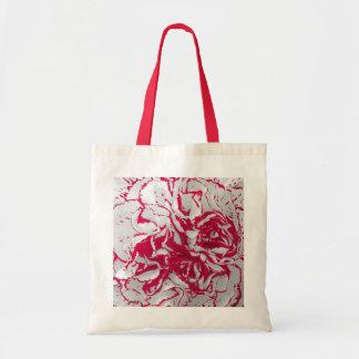 バッグ-赤く及び白いのカーネーション トートバッグ