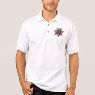 バッジが付いているDeWitt Coの保安官のワイシャツ ポロシャツ