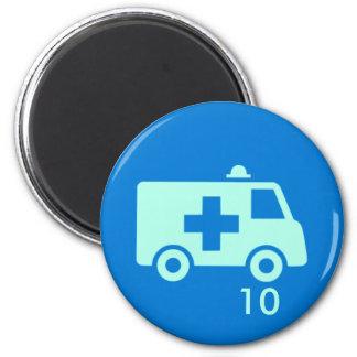 バッジの磁石-救急車10 マグネット