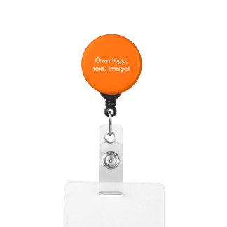バッジホールダー-単Carabinerのオレンジ IDカードホルダー
