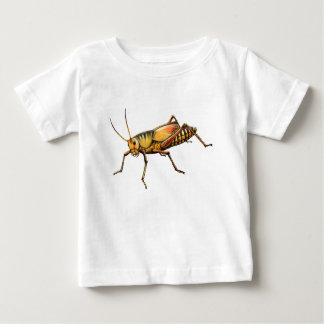 バッタの乳児のTシャツ ベビーTシャツ
