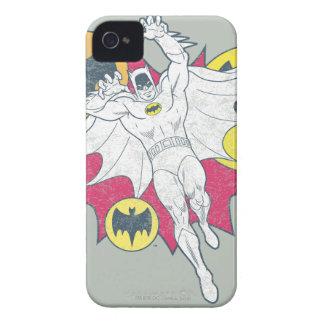 バットマンおよびこうもりの記号のグラフィック Case-Mate iPhone 4 ケース