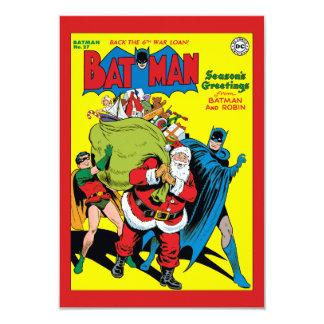 バットマンおよびロビンからの季節の挨拶 8.9 X 12.7 インビテーションカード