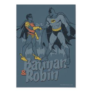 バットマンおよびロビンの動揺してなグラフィック 12.7 X 17.8 インビテーションカード