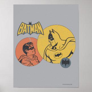 バットマンおよび動揺してなロビンのグラフィック- ポスター