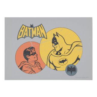 バットマンおよび動揺してなロビンのグラフィック- 12.7 X 17.8 インビテーションカード