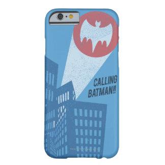 バットマンのこうもりの記号のグラフィックの呼出し BARELY THERE iPhone 6 ケース