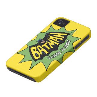 バットマンのクラシックなテレビの連続番組のロゴ Case-Mate iPhone 4 ケース