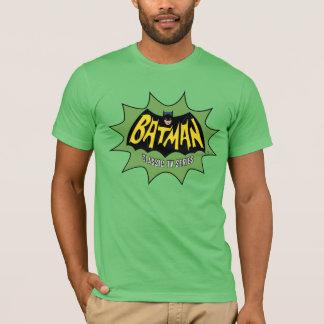 バットマンのクラシックなテレビの連続番組のロゴ Tシャツ