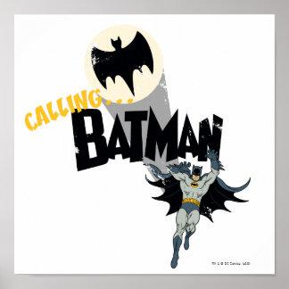 バットマンのグラフィックの呼出し ポスター