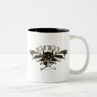 バットマンのスカルの頭巾のBatwingsのロゴ ツートーンマグカップ