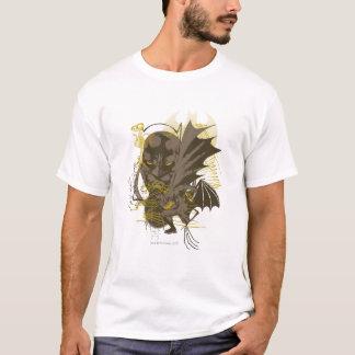 バットマンのヴィンテージのグランジなポートレート Tシャツ
