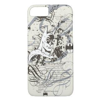 バットマンの暗い騎士原稿モンタージュ iPhone 8/7ケース