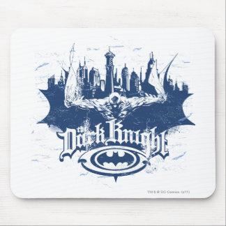バットマンの暗い騎士|都市景観の青のロゴ マウスパッド