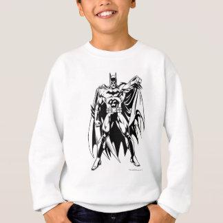 バットマンの白黒前部 スウェットシャツ