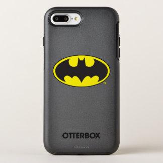 バットマンの記号 のこうもりの楕円形のロゴ オッターボックスシンメトリーiPhone 8 PLUS/7 PLUSケース